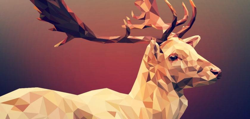 Deer head polygon