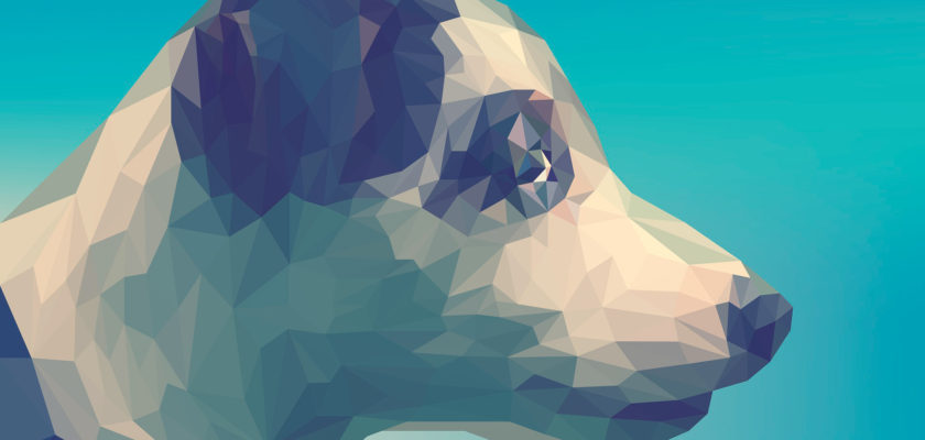 Spectacular designs of animals in polygonal style